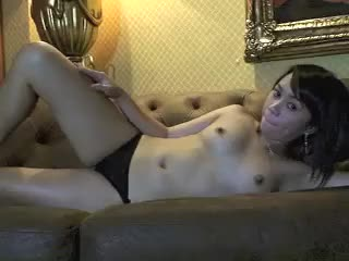 Asian girl in hotel gets naked for webcam